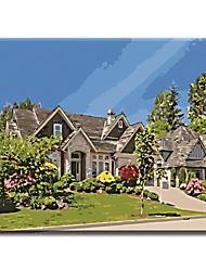 Hand Painted Oil Painting Home Decor Landscape House Art Wall with Stretched Frame Ready to Hang