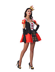 Queen of Hearts Costume Accessories Fancy Dress Sexy Fantasia Adulto Costume Cosplay With Crown
