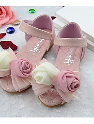 Girl's Sandals Summer Comfort Faux Leather Outdoor Pink White
