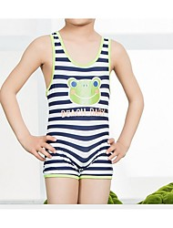 Boy's Beach Striped Swimwear,Nylon Summer Blue