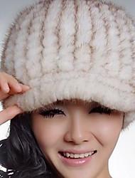 Women Faux Fur Floppy Hat,Casual Winter