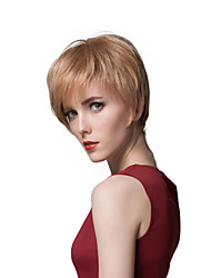 Layered Short Charming Human Hair Capless Wigs