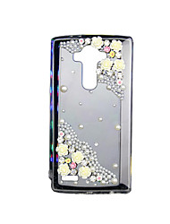 For LG Case Case Cover Back Cover Rhinestone Transparent Back Cover Case 3D Cartoon Soft TPU for LG LG G4