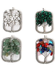 Pendants Stone Geometric Shape As Picture 1Pc