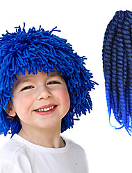 "Black Ombre Blue 12"" Kid's Kanekalon Synthetic 2X Havana Mambo Twist 2 Tone 100g Hair Braids with Free Crochet Hook"