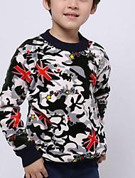 Boy's Casual/Daily Jacquard Sweater & Cardigan,Spandex Spring / Fall Black / Gray