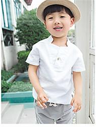 Katoen-Zomer-Boy's-T-shirt-Effen
