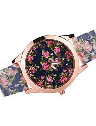 Women's Fashion Watch Casual Watch Quartz Japanese Quartz Silicone Band Black White Brown Multi-Colored