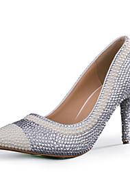 sapatos de salto stiletto saltos saltos casamento / partido das mulheres&noite / vestido de prata