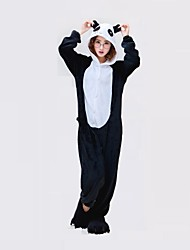 Kigurumi Pijamas Oso Panda Leotardo/Pijama Mono Festival/Celebración Ropa de Noche de los Animales Halloween Negro / blanco Geométrico