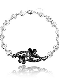 Italy Silver Christmas Gift Black and Silver Fashion Jewelry Bracelet for Women