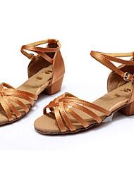Scarpe da ballo - Non personalizzabile - Donna - Latinoamericano - Customized Heel - Satin / Eco-pelle -Nero / Marrone / Argento / Oro /