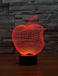 Amazing 3D Visual Nightlights Atmosphere Table Lights with Apple Shape Color-Changing Night Light