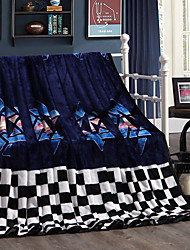 Dark blue Fleece fabric blanket summer comforter Air conditioning throw winter soft bedsheet