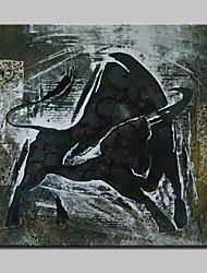 ручной росписью современной абстрактной быка картины маслом на холсте стены искусства картины с растянутой кадр готов повесить