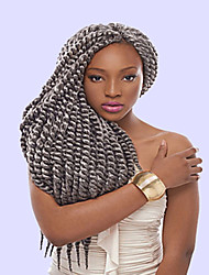 12-22inch Long Braids Havana Mambo Twist Braid Hair Synthetic Gray Kanekalon Kinky Marley Twists Braiding Hair Extension