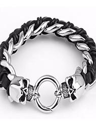 kalen® pulseiras crânio de aço inoxidável de jóias masculinas de punk estilo de alta qualidade