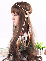 Women's Bohemia Vintage Feather Beads  Headbands 1 Piece