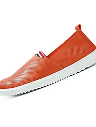 Men's Shoes Fabric / Flats / Clogs & Mules Casual Walking Flat Heel Others / Gore / Slip-on Black / White / Orange