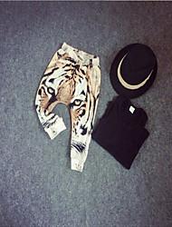 Pantalones Boy-Primavera / Otoño-Algodón-Leopardo