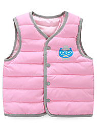 Boy's Casual/Daily Print Vest,Cotton / Polyester Winter / Fall Blue / Pink / Red / Yellow