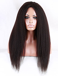EVAWIGS 100%  Indian Human Hair U Part Wig Fashion Kinky Straight Wig for Black Women