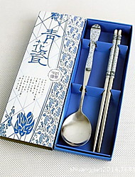Blue And White Porcelain Spoon Chopsticks Two-Piece