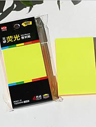 cuatro pegatina autoadhesiva color fluorescente
