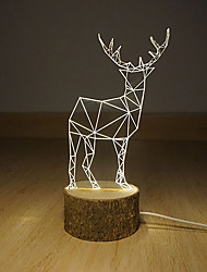 3 D  LED Vision Lamp Gift Atmosphere Desk Lamp  Deerlet Night Light