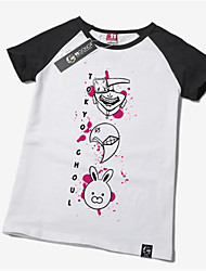 Ispirato da Tokyo Ghoul Ken Kaneki Anime Costumi Cosplay Cosplay Tops / Bottoms Con stampe Manica corta T-shirt Per Unisex
