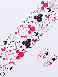 Nail Art Foil Stickers Leopard Nail Transfer Craft,Fingernails Fall inLove Heart Nail Stickers