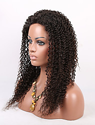 EVAWIGS Brazilian Human Virgin  Hair Wig Lace Front Wig High Density Kinky Curly  Lace Wig