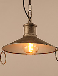 Retro Plating Single Head Personality Pendant Lamp Fit for Hallyway / Foyer / Living Room Drop Light