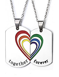 Necklace Pendant Necklaces / Pendants Jewelry Daily / Casual Fashionable Stainless Steel Silver 1 pair Gift