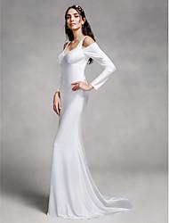 Lanting Bride Trumpet / Mermaid Wedding Dress Court Train Straps Knit