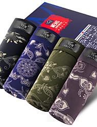 SHINO® Coton / Fibre de carbone de bambou Boxer Short 4 (4 Pcs/Box)-F015-A