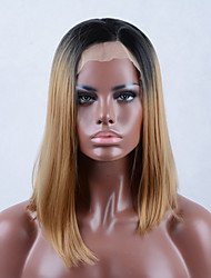 2016 New Brown Ombre hair Black to Brown Synthetic Lace Front Wig Bob wigs For Black Women