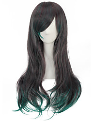Cosplay Wigs Green Mixed Grey Long Wave Popular Pretty Daily Wearing Wigs