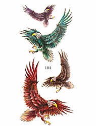 16 Patterns Flower Eagle Animal Waterproof Body Art Tattoo Temporary Tattoo Sticker(24cm*9.5cm)