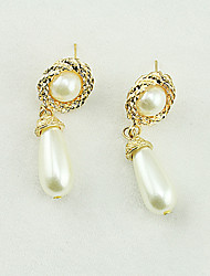 Earring Geometric Jewelry Women Fashion Wedding / Party / Daily / Casual / Sports Alloy / Imitation Pearl 1 pair Gold