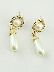 Women's Fashion Lovely Temperament Pearl Pendant Earrings
