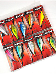 Fishing-10 pcs-3D Multicolored Hard Plastic-XINHUA Sea Fishing / Bait Casting / Trolling & Boat Fishing