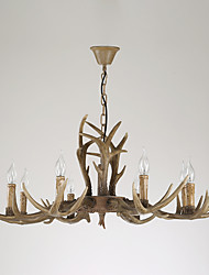 8 Heads Retro Antler Chandelier Lamp Mule Deer Pedant Lamp Fit for the Hotel / Coffee Room Decorate Chandelier Light