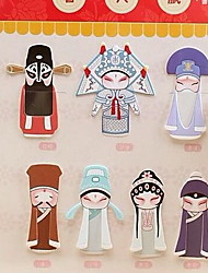 7 Creative Chinese Style Peking Opera Characters Bookmarks
