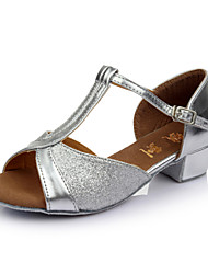 Women's Girl'  Kids'  Dance Shoes Latin / Salsa / Samba/Ballroom  Satin / Sparkling 3.5CM Heel (More Color)