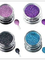 1 Bottle Nail Art Laser Colorful Glitter Shining Powder Manicure Makeup Decoration Nail Beauty L13-16