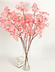1 1 Une succursale Polyester / Plastique Cerisier du Japon Fleur de Table Fleurs artificielles 46.851inch/118cm