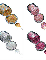 1 Bottle Nail DIY Beautiful Color Colorful Laser Glitter Powder Nail Beauty Decoration L01-04