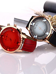 Women/Lady's Butterfly Fashion Gem Case Colorful Leather Band Fashion Watch