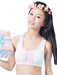 XLY Development Puberty Teenagers Girl's Comfortable Cotton Wireless Sports Bra Underwear. Item. Thin Cup Bra.Code 6015